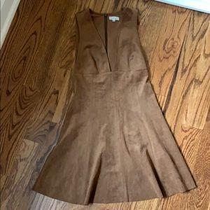 Aritzia brown suede dress